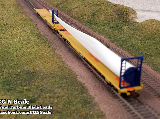 N Scale Wind Turbine Blades - 3 Pack (Part 2 of 2) 3d printed