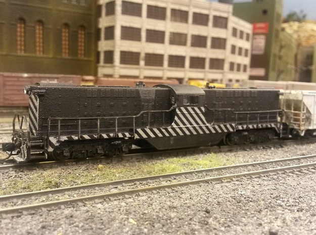Baldwin DT6-6-2000 Center Cab N Scale 1:160 3d printed Shell With Handrails