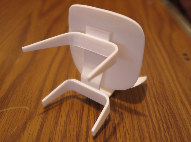 "Herman Miller Eames Molded Plywood Chair 3.1"" tall 3d printed"