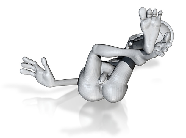 reclining wink in steel $20 3d printed