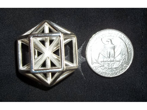 Change Agent 3d printed Change Agent in Polished Silver