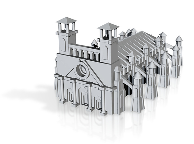 Gothic Style Cathedral 3d printed