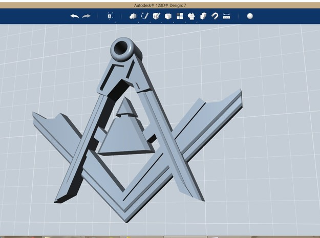 Masonic Pendant Square and Compass 3d printed