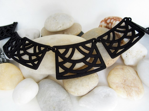 Trellis Necklace - Multiple Links: One Print 3d printed