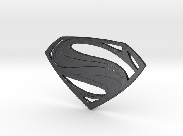Man Of Steel Emblem - With Pegs 3d printed