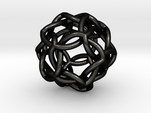 Icosahedral Knot thick 3d printed