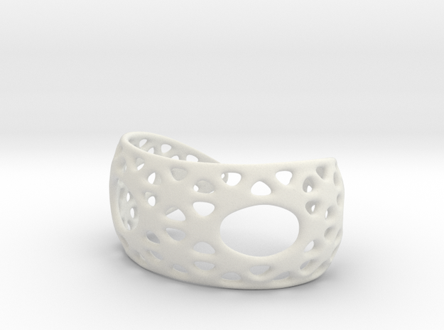 Snub Bracelet 3d printed red strong and flexible