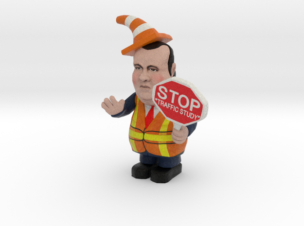 Small - Chris Christie directing traffic BridgeGat 3d printed