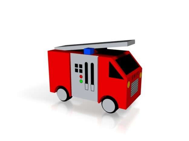Fire Engine 3d printed