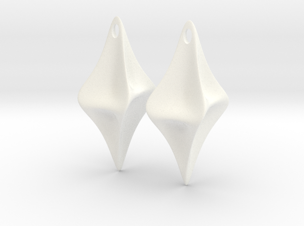 Pinched Earrings 3d printed