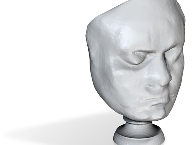 Beethoven's Life Mask [6cm] Hollow 3d printed