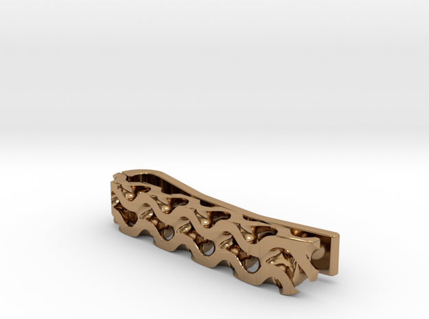 Gyroid Tie Bar (Skinny) (Personalized) 3d printed