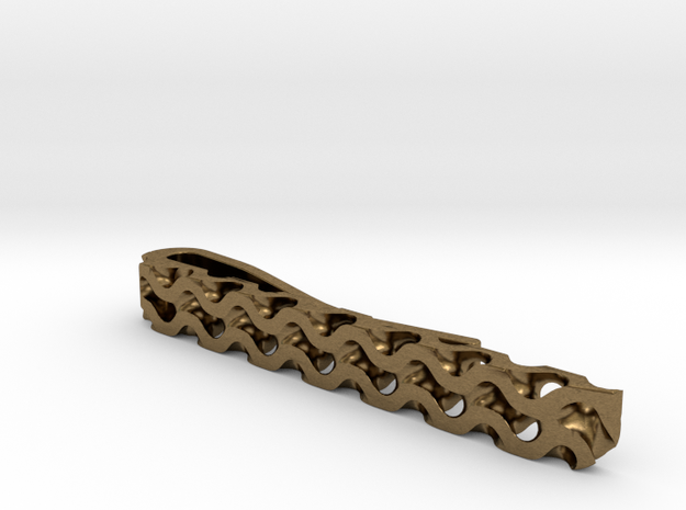 Gyroid Tie Bar 3d printed