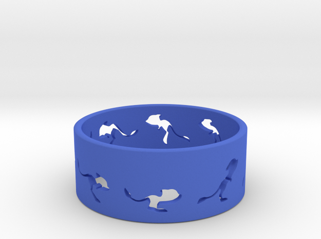 Mouse Animated Ring Sz7- part 1 of 2 3d printed