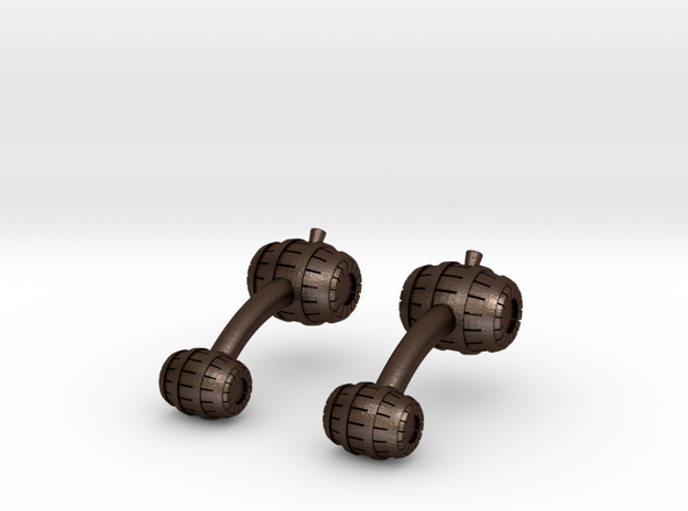 Barrel Cufflinks 3d printed