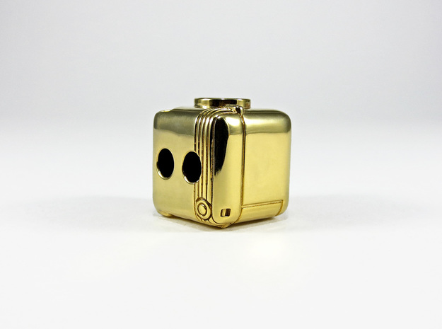 Instagram Style Camera (Pendant 20mm) 3d printed 20mm / Polished Brass