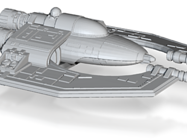 Hapes Consortium Fighter Mk2 1-270 3d printed