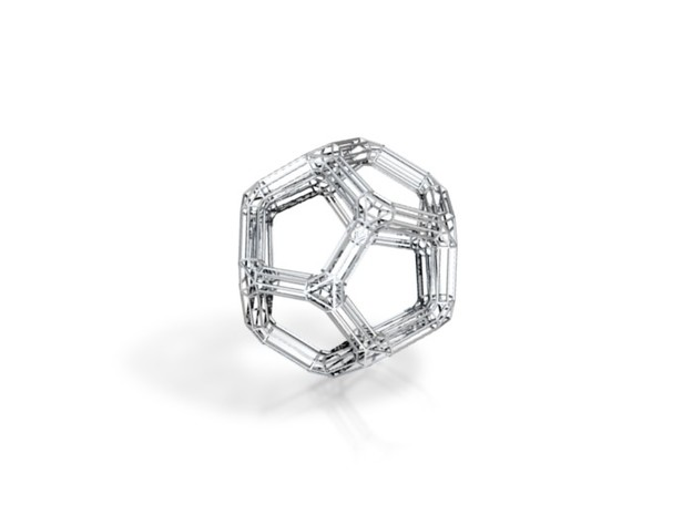 Dodecahedron Frame 3d printed