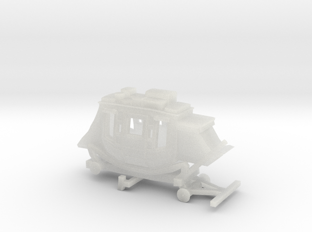 N Scale Stagecoach - No Wheels 3d printed
