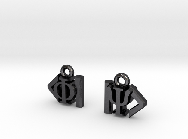 Dirac Bracket Notation Earrings 3d printed