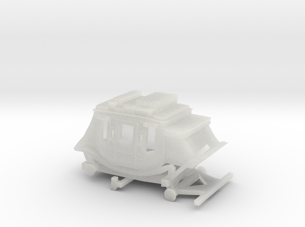 Z Scale Stagecoach - Wide, No Wheels 3d printed