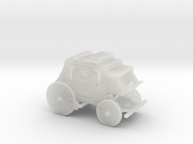 Z Scale Stagecoach - Wide 3d printed