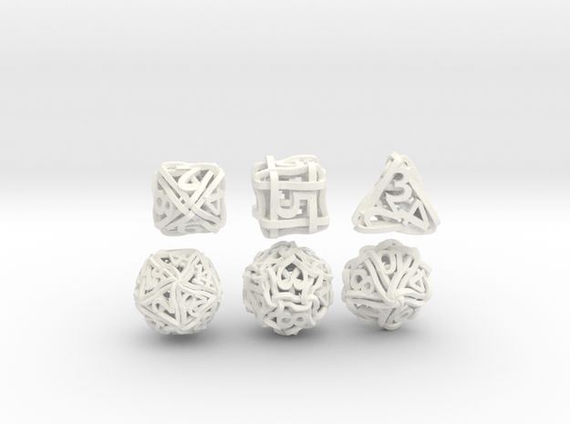 Loops Dice - Small 3d printed