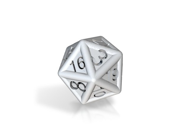D20 Cut Out 3d printed