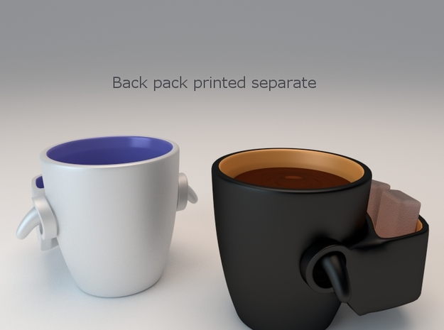 Backpack For Backpack Mug 3d printed
