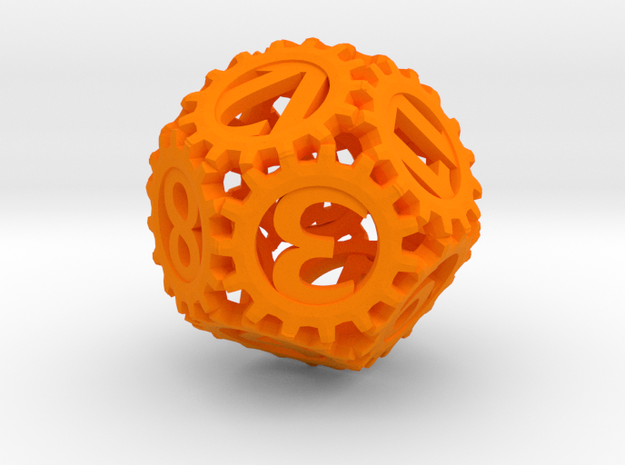 Static Gear (D12) 3d printed