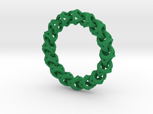Crossover Thick - Bracelet size M 3d printed