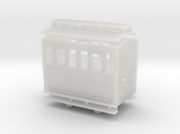 OO9 4w coach 3rd class clerestory roof 3d printed