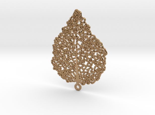 Leaf Skeleton Earring 3d printed