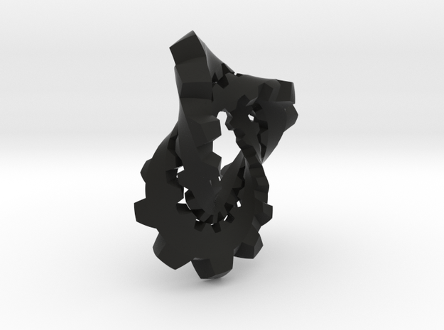 Knotted Cog (large) 3d printed