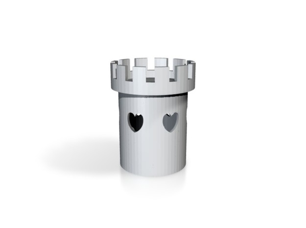 Tower of Love - Tealight Candle Holder 3d printed