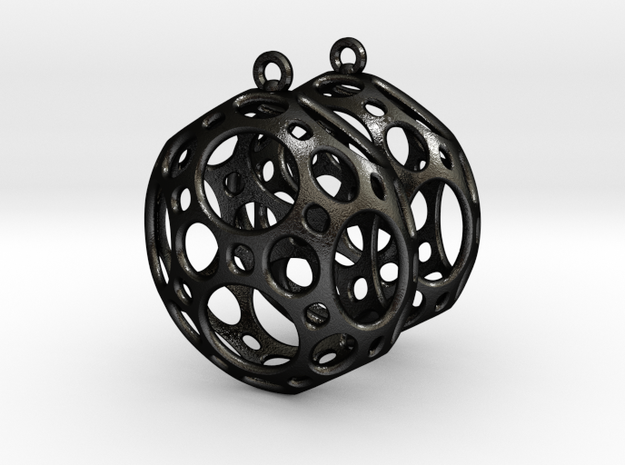 Porthole Earrings 3d printed