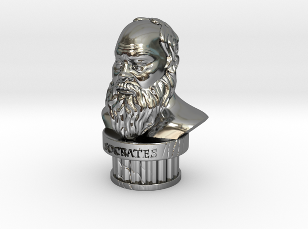 Socrates Bust 3d printed