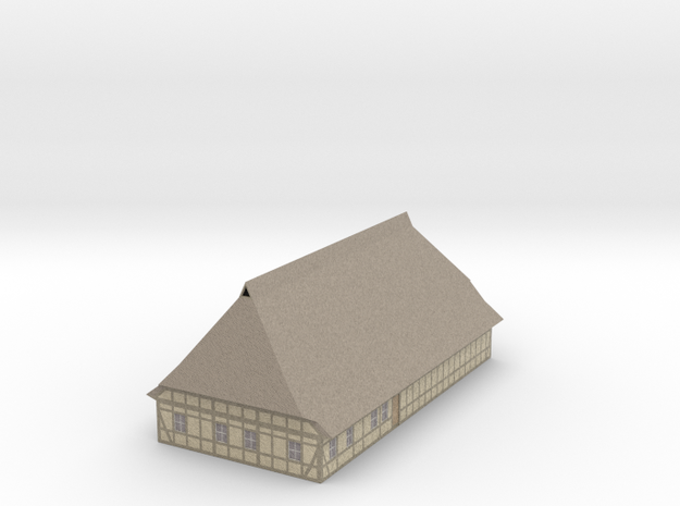 1/300 North German Timberframe House - clay wall 3d printed