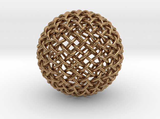 Single Stranded 320 Facet Globe Knot 3d printed