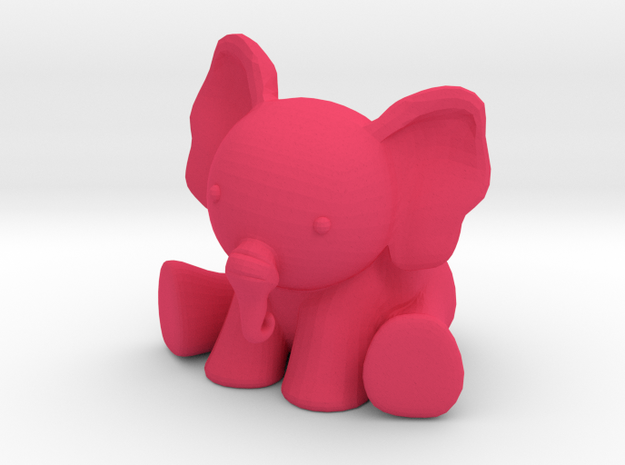 Phanpy: The Pink Elephant 3d printed