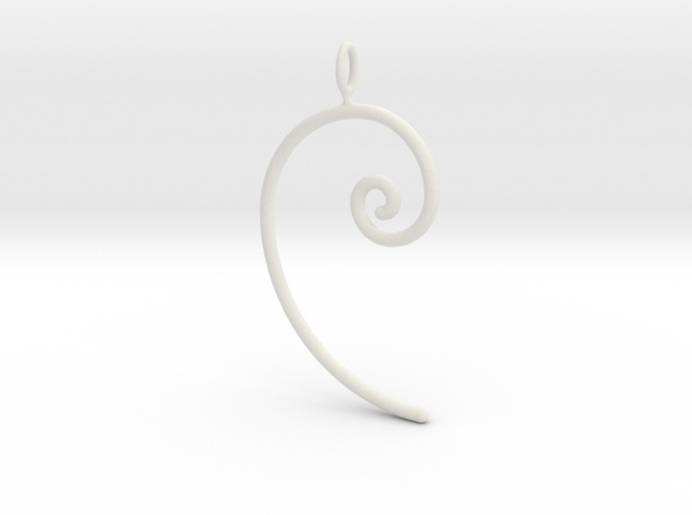 Fibonacci spiral, according to the golden ratio 3d printed