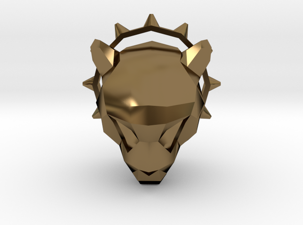 Spiked Cheetah Pendant 3d printed