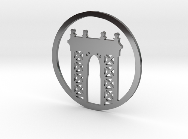 Manhattan Bridge pendant 3d printed