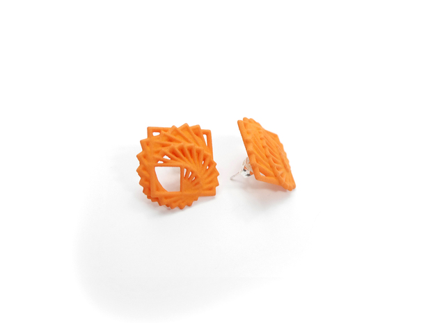 Arithmetic Earrings (Studs) 3d printed