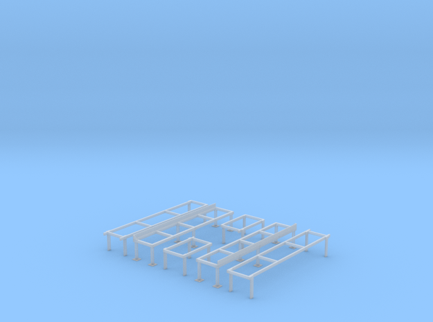 Railroad Roundhouse/Shop Work Platforms (HO Scale 3d printed