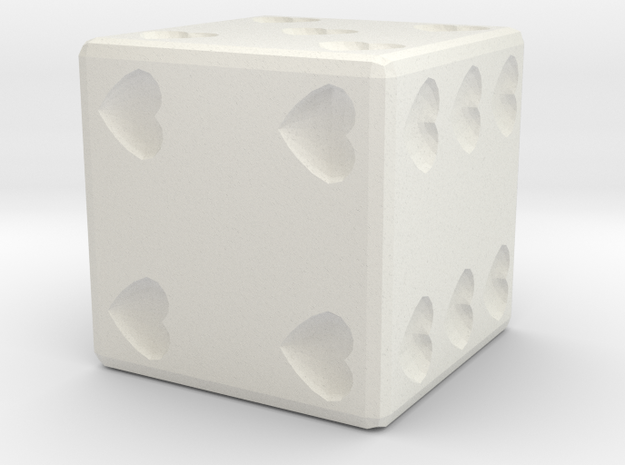 Hearts Dice 3d printed