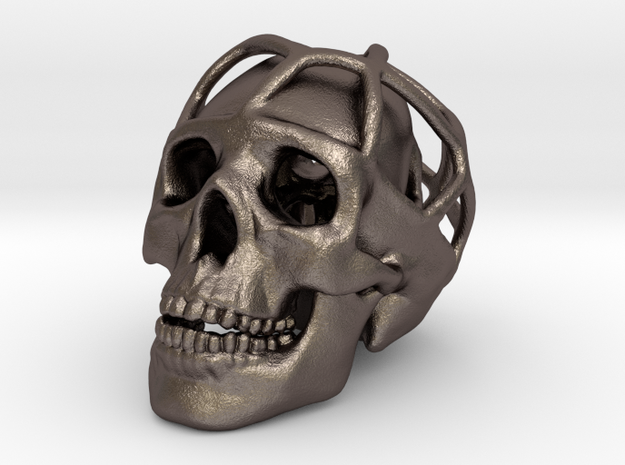 Double Skull Pendant 3d printed