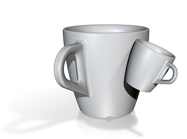 one cup a day | Day 21: Siamese Cup 3d printed