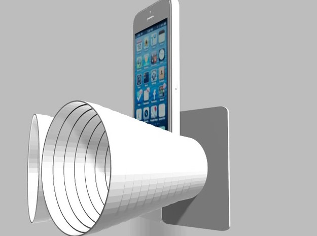 iPhone5 Stereo Acousticup Collapsible Amplifier 3d printed