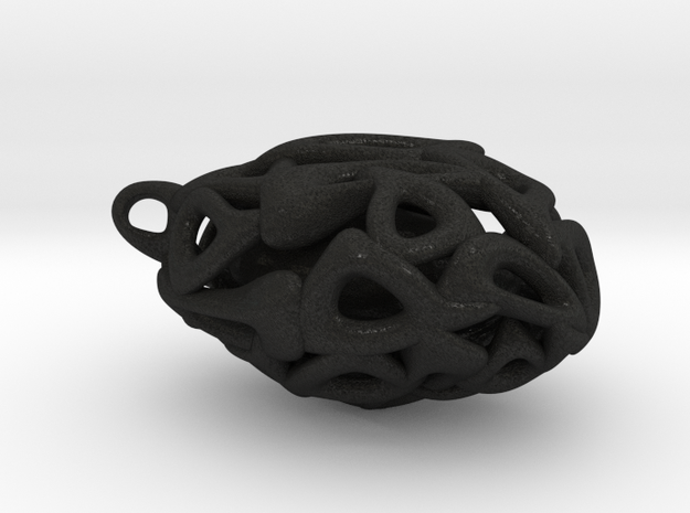Pendant with captured pebble 3d printed
